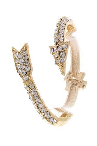 A perfect Pi Phi accessory!  Amazon.com: TRENDY FASHION CUPIDS EMBRACE ARROW BRACELET BY FASHION DESTINATION   (Gold): Fashion Destination: Jewelry