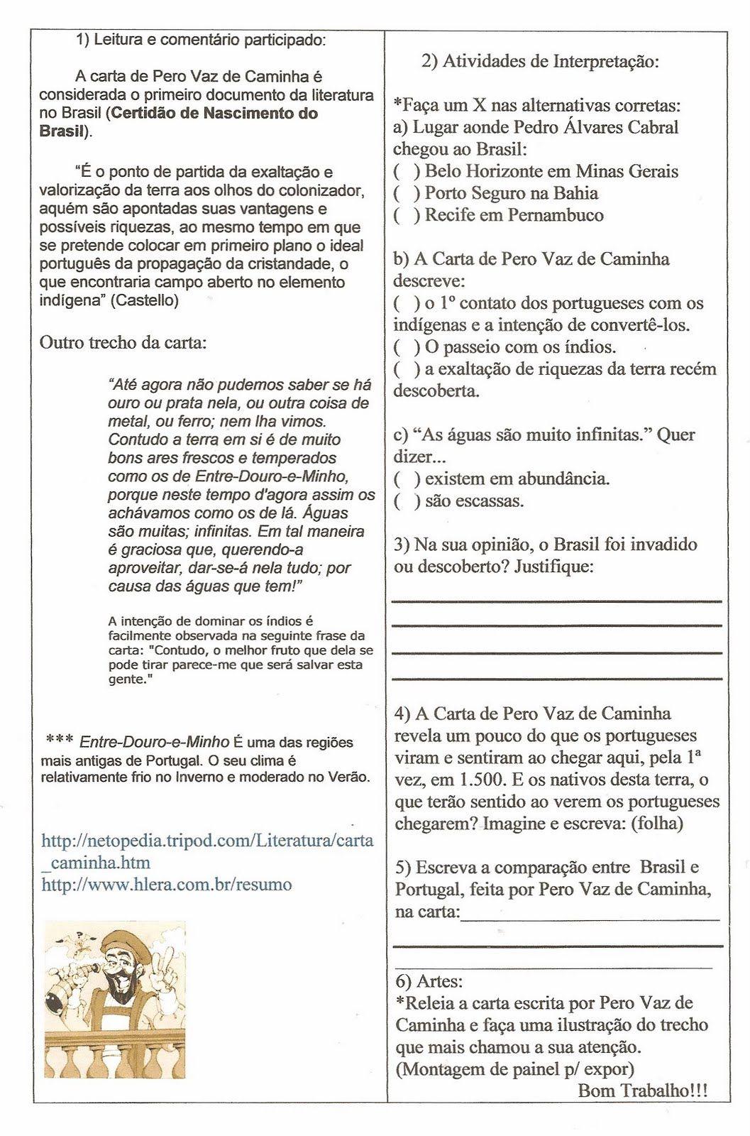 Descobrimento Brasil Historia Atividades Imprimir 5 Jpg 1057