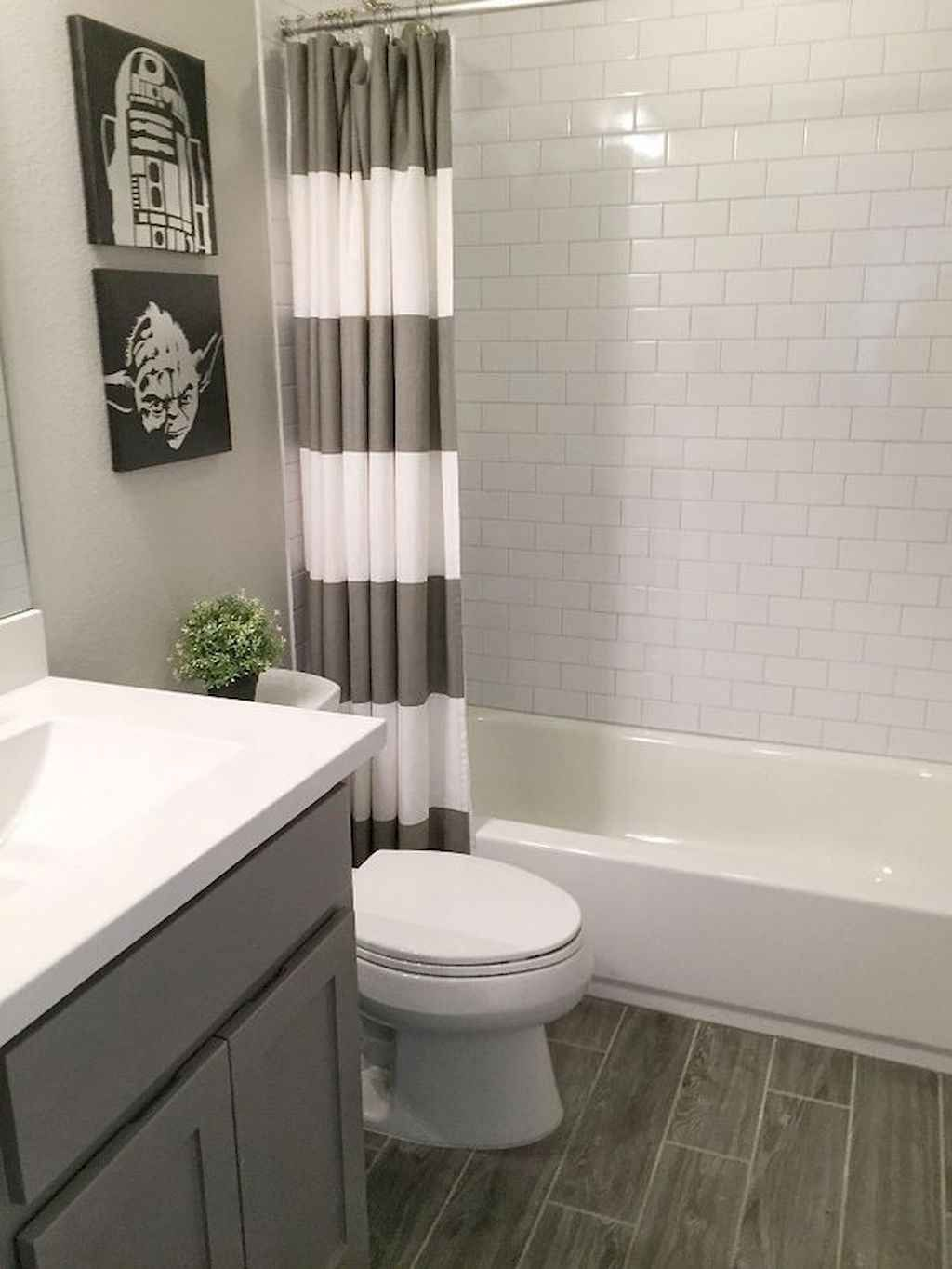 60 Guest Bathroom Makeover Design Ideas Gladecor Com In 2020 Gray Bathroom Decor Diy Bathroom Makeover Small Bathroom Remodel