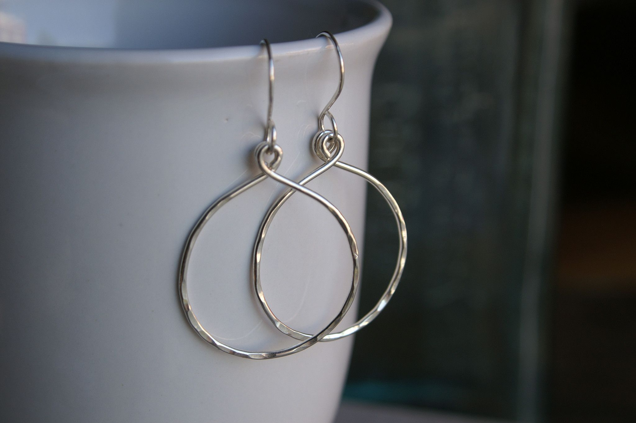 Sterling Silver Raindrop Earrings- The Sizes