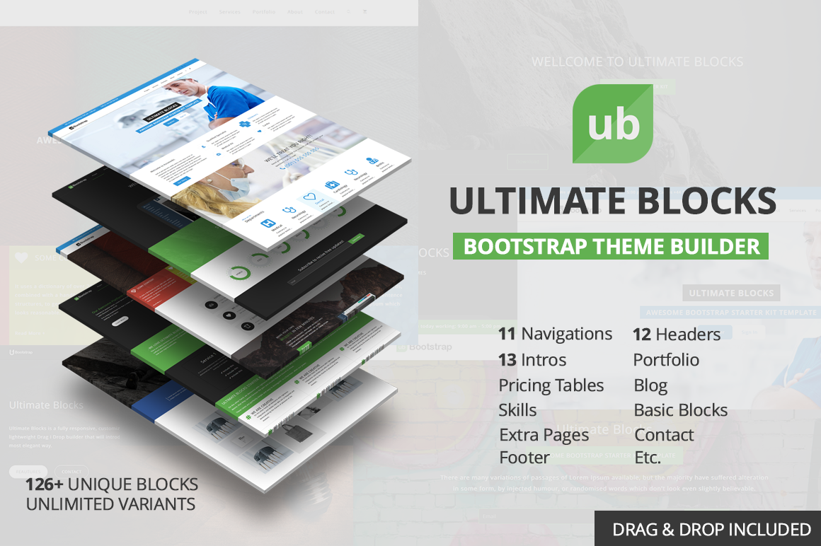 Download Best 150+ Free and Premium HTML5 Bootstrap Web Templates in ...