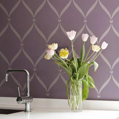 Wall Stencils | Ribbon Lattice Stencil | Royal Design Studio $39