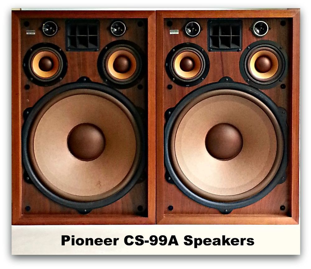 6-way Vintage Pioneer CS-99A Speakers Woofer Tweeter Drivers Pioneer