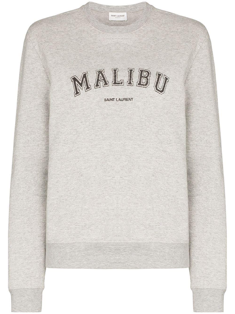Saint Laurent Malibu Crew Neck Sweatshirt Farfetch In 2021 Sweatshirts Saint Laurent Workout Sweatshirt [ 1334 x 1000 Pixel ]