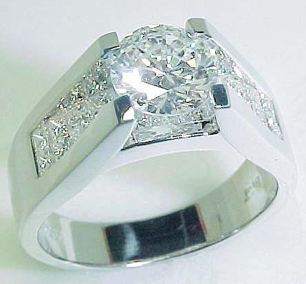 Oval Solitair Diamond Rings Set Bridge bridge diamond ring free