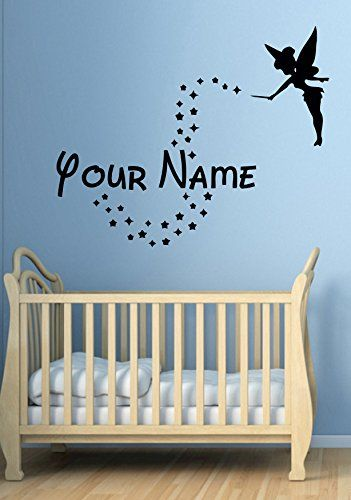 personalized wall decal tinker bell fairy disney peter pan custom