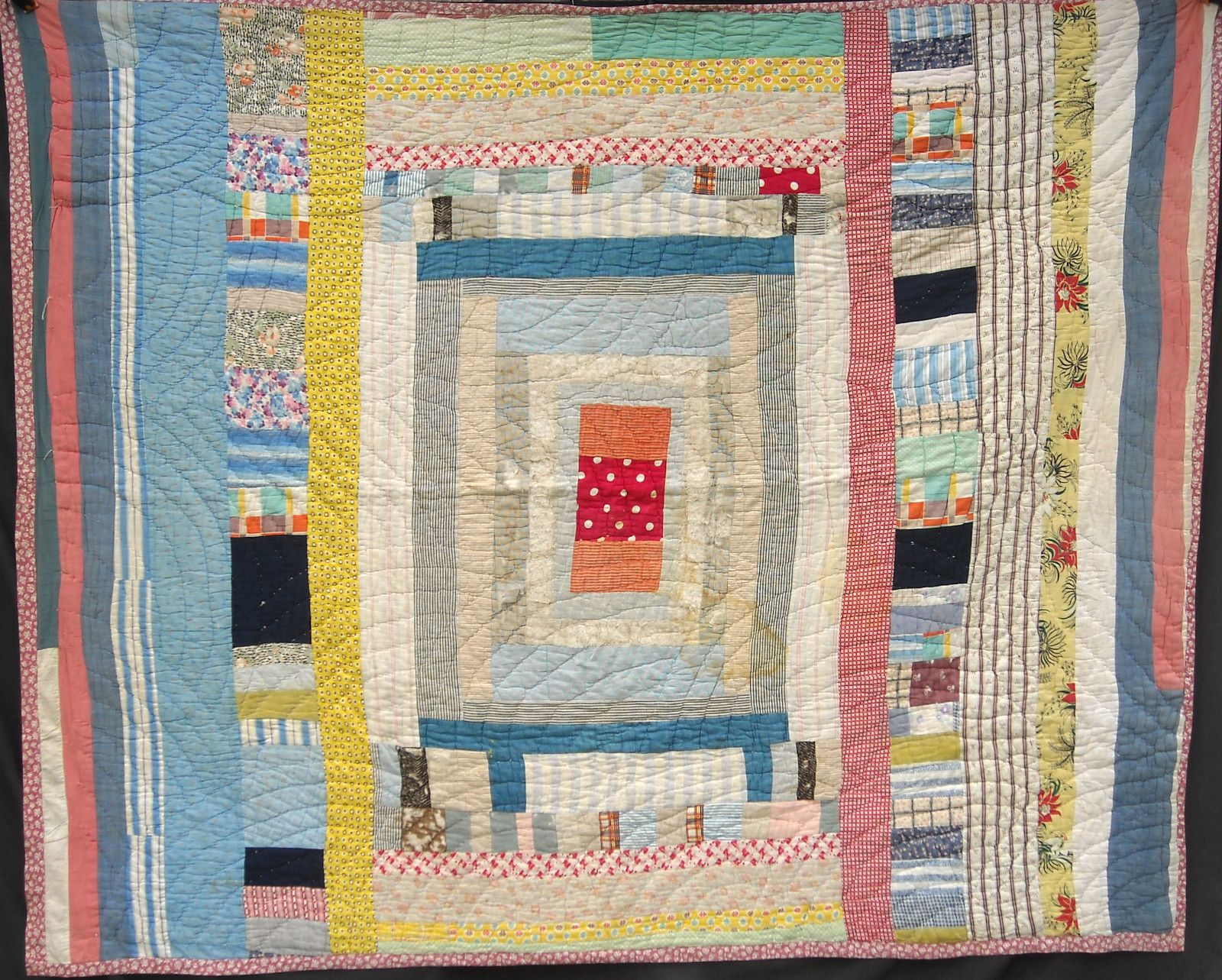 caged spirit in a barrel 1940s quilt texas possibly african american modernist fabrics. Black Bedroom Furniture Sets. Home Design Ideas