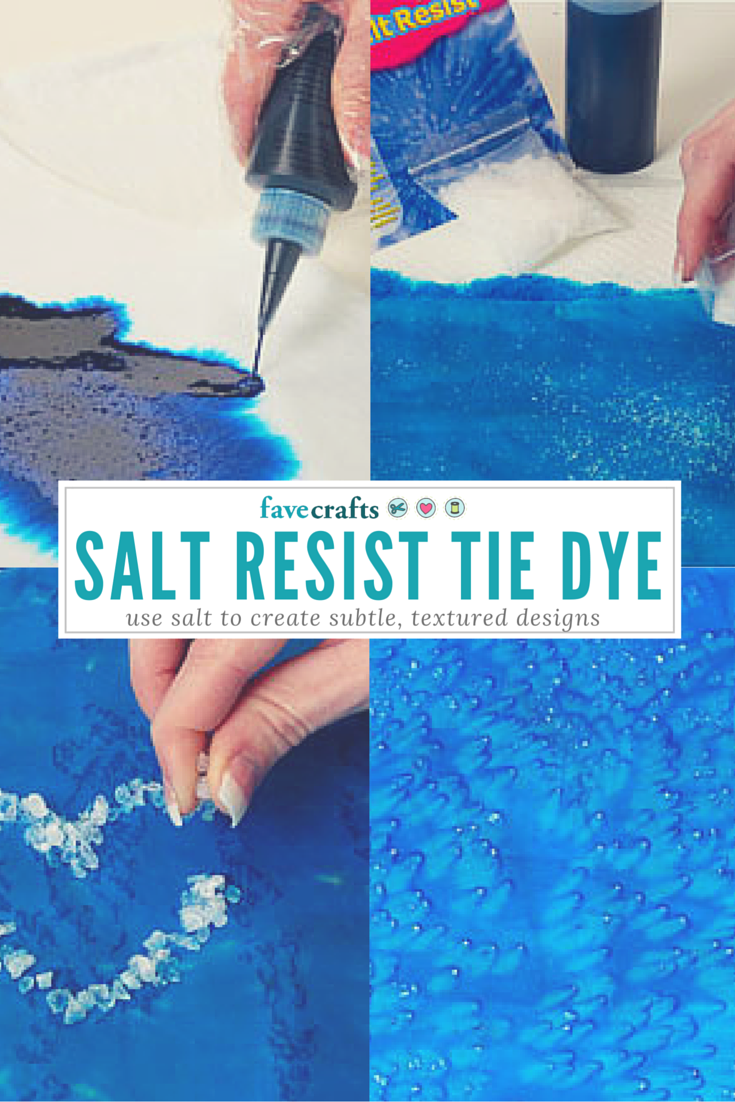 A little dash of salt can give your project a whole new look. Create shapes, words, and more by following this Salt Resist Tie Dye Technique.