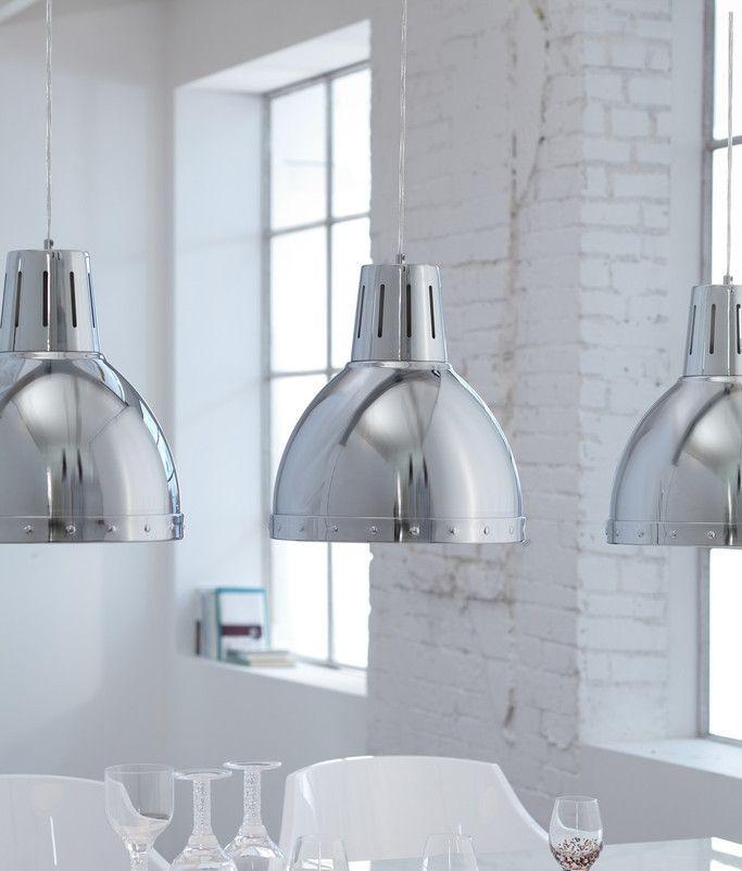 Chrome industrial style pendant lighting pinterest industrial chrome industrial style pendant aloadofball Choice Image