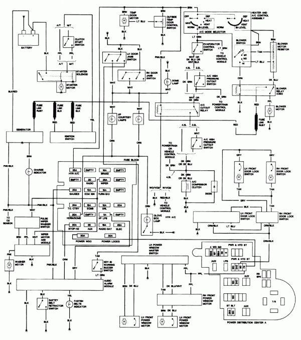 16 1993 Chevy Truck Wiring Diagram Truck Diagram Wiringg Net Chevy S10 Chevy Silverado Chevy