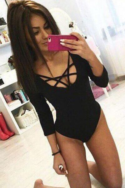 3a5c1fb1fc Hollow Out Sexy Tight Rompers Jumpsuit