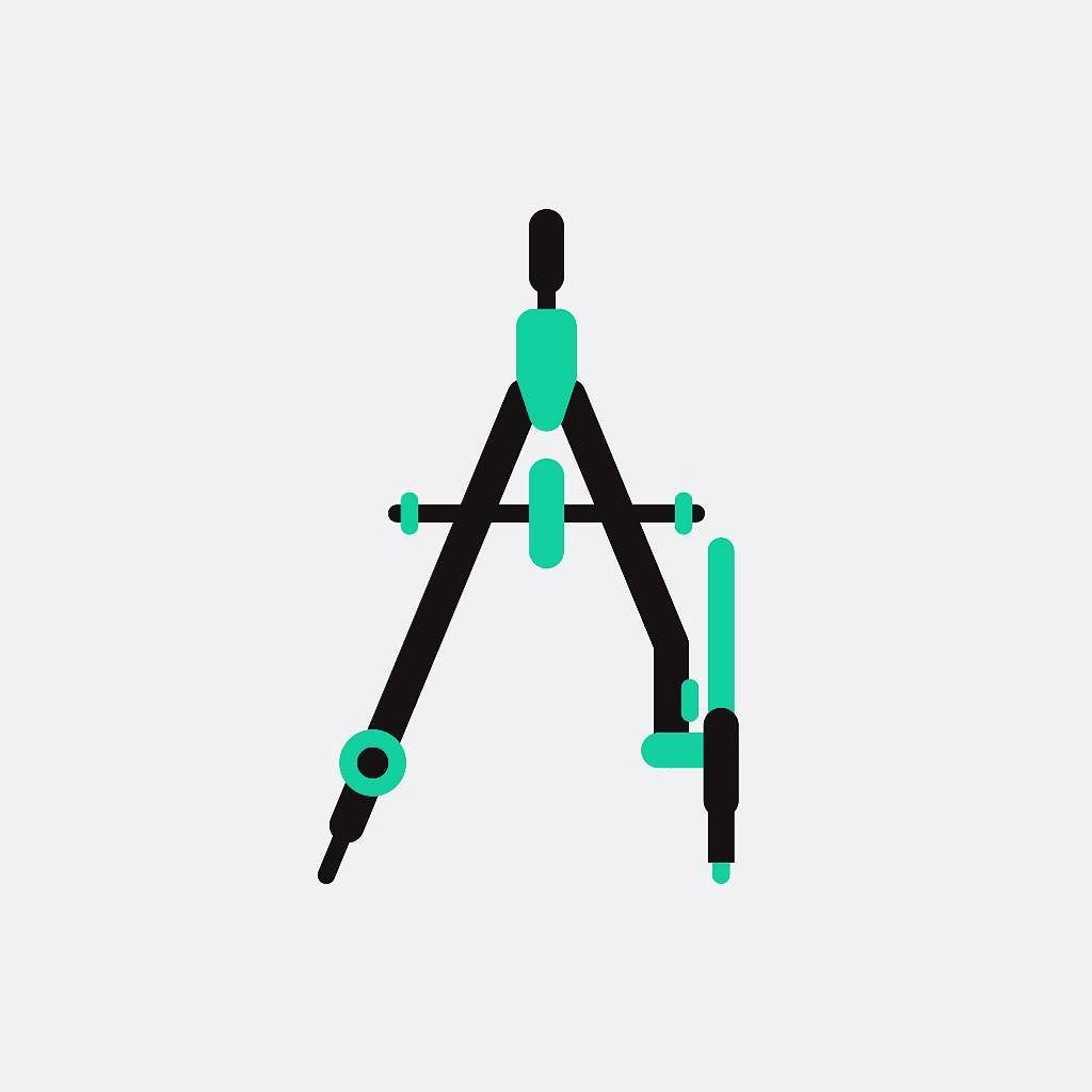 Architects Tools On My Behance Compass Architecture Architect Icon