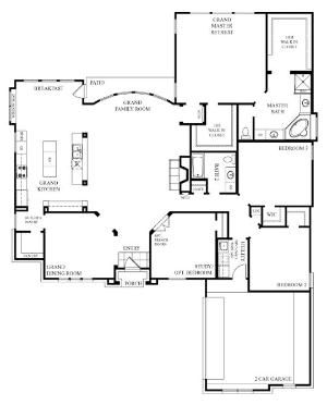 i like this one story house simple and open floor plan add workshop to