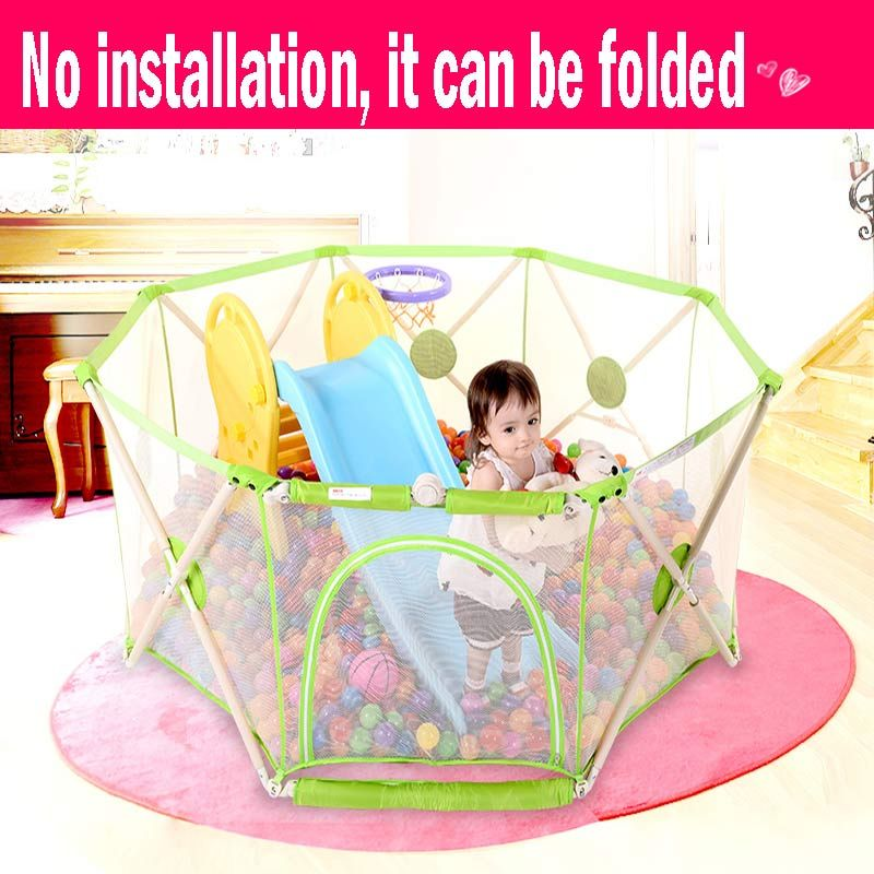 Baby Playpen Fence Sturdy And Light Enough Portable Folding Safe Infant  Play Yard Toddler Fence Protection