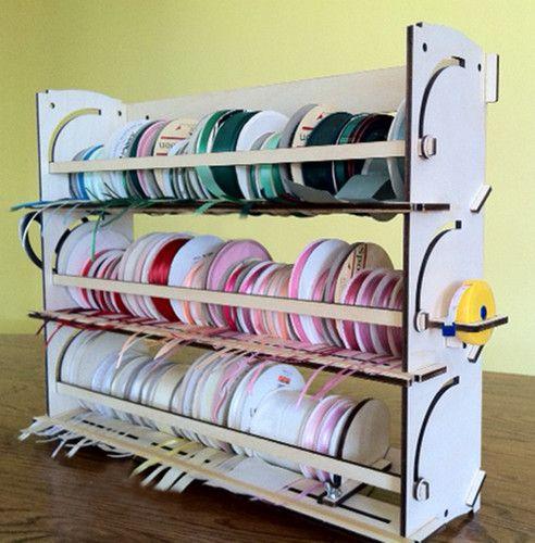 Ribbon Storage Rack Organizer Holder 80 Spools Ebay Ribbon