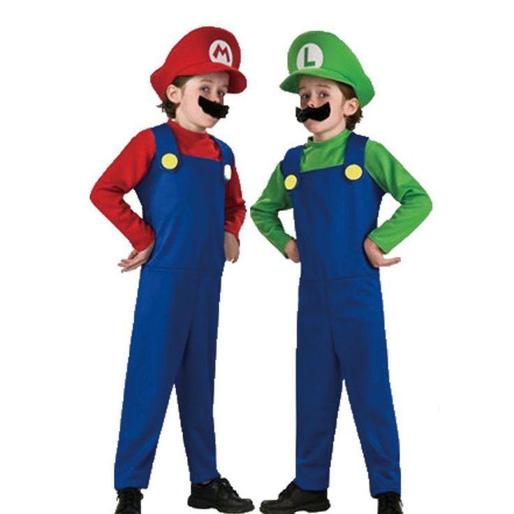 kinder super mario luigis mansion kost m karneval kost m junge fasching anzug kleidung