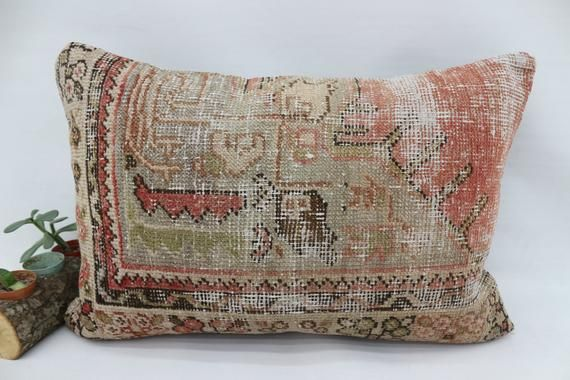 Couch Pillow, 16x24 Anatolian Rug Pillow,Neck Pillow,Throw Pillow,Pillow Cover,Red Pillow,Decorative