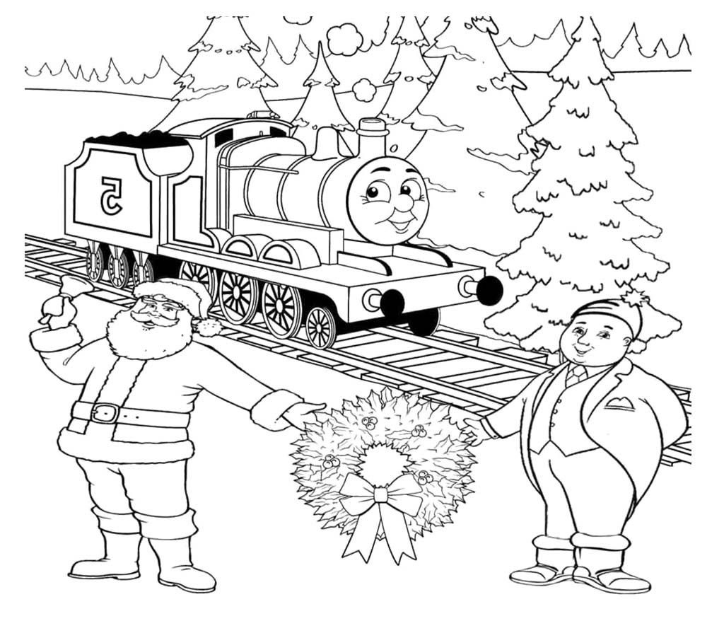 Thomas And Friends Two Old Man Coloring Page Christmas