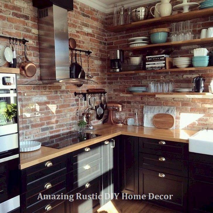 Amazing Rustic Kitchen Island DIY Ideas  #homedecor #kitchendesign