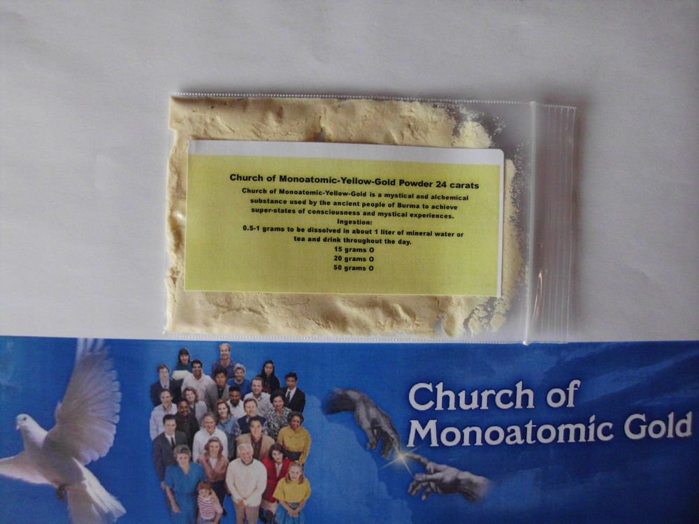 Details about Church of Monoatomic Yellow-Gold-Powder: 100