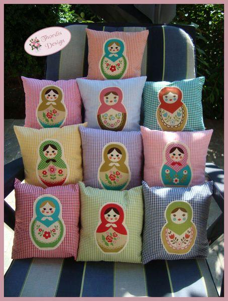 kissen matrjoschka babuschka bezug matroschka pinterest patchwork. Black Bedroom Furniture Sets. Home Design Ideas