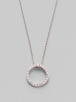 Roberto Coin Tiny Treasure Circle of Life Necklace with Diamonds Wm92W