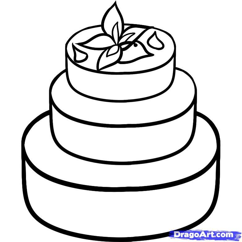 How To Draw A Wedding Cake By Dawn Cake Drawing Wedding Cakes