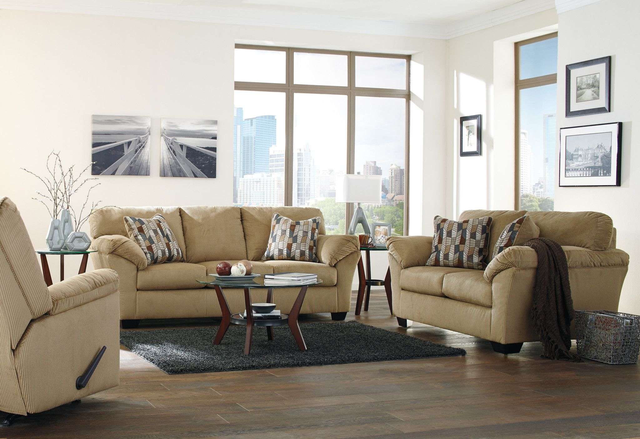 Jada Sofa Loveseat Recliner Set 3pcs Outfit My Home