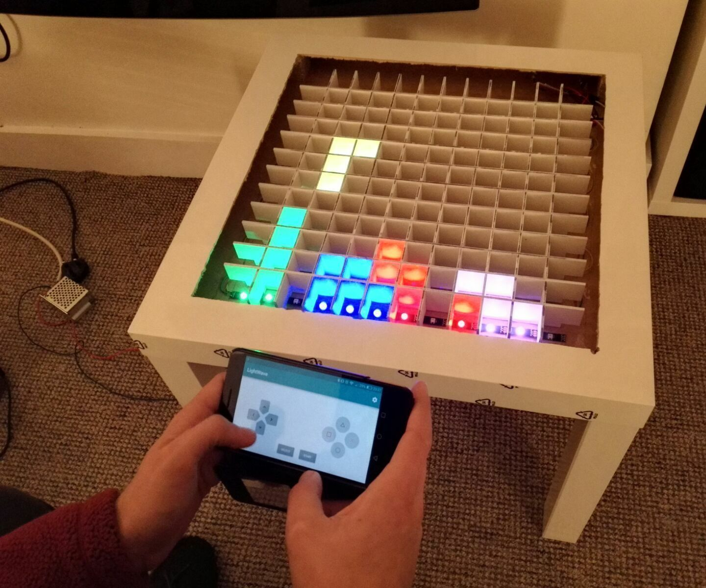 Bluetooth Controlled Arduino Led Coffee Table Arduino Led Arduino Bluetooth Arduino Projects Diy [ 1200 x 1440 Pixel ]