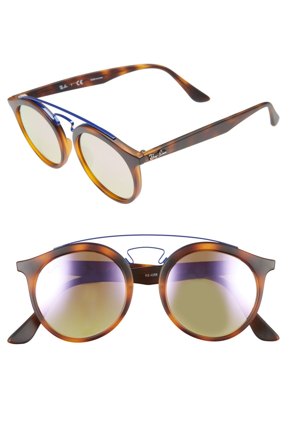 953079b4be Free shipping and returns on Ray-Ban 49mm Gatsby Round Sunglasses at  Nordstrom.com. Inspired by the iconic original