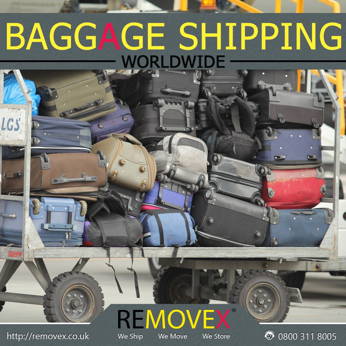 Removex offers Worldwide Baggage Shipping, receive your