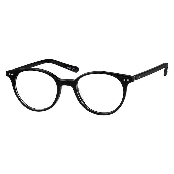 9dad1ee800 Zenni Round Prescription Eyeglasses Black Tortoiseshell Plastic 4420721