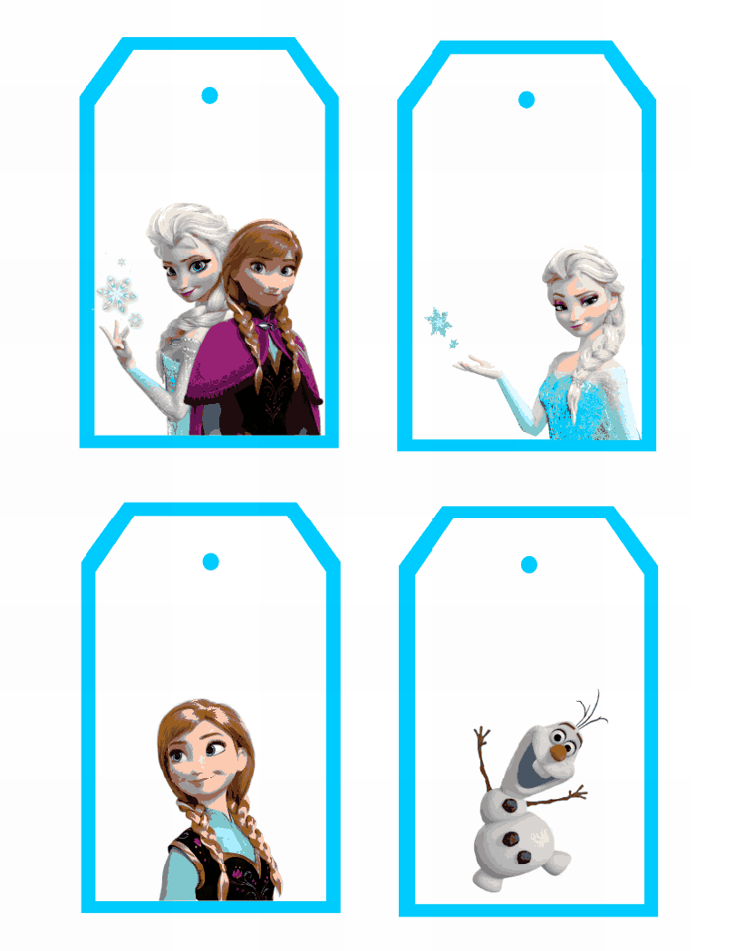 Frozen Printable Gift Tags With Images