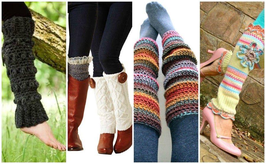 Calentadores o polainas a crochet | Tacones altos, Combinación de ...