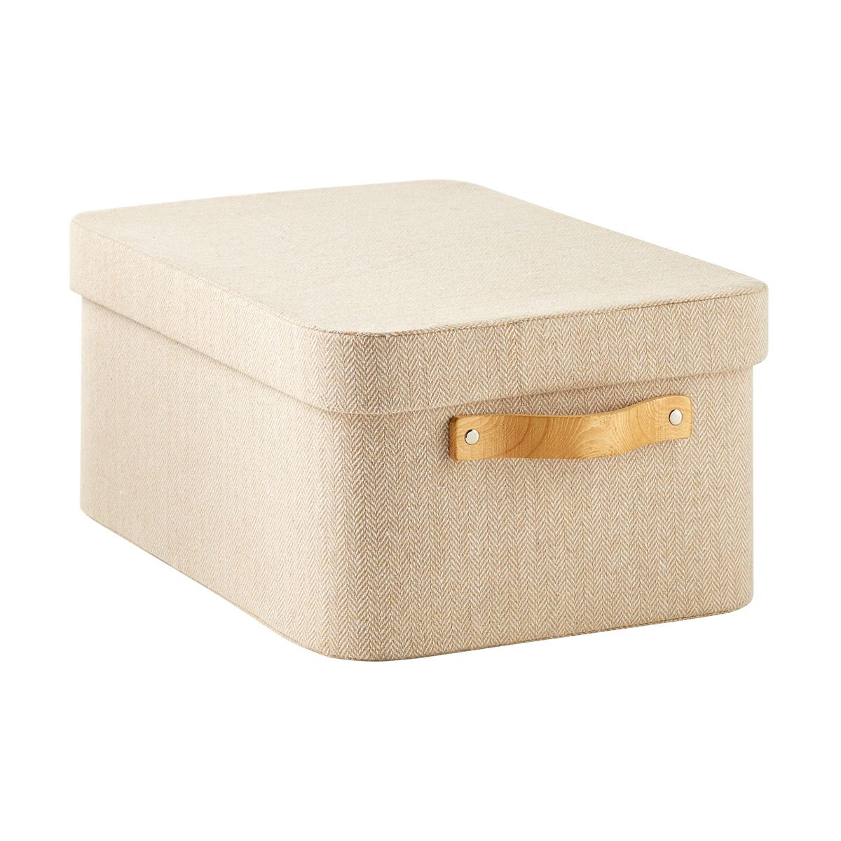 Natural Herringbone Storage Boxes With Wooden Handles In 2021 Storage Boxes Storage Bins With Lids Modern Storage Boxes Large decorative storage boxes with lids