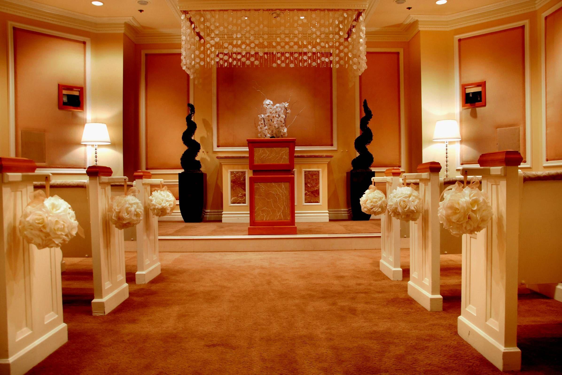 The Elegant West Chapel At Treasure Island Hotel Casino