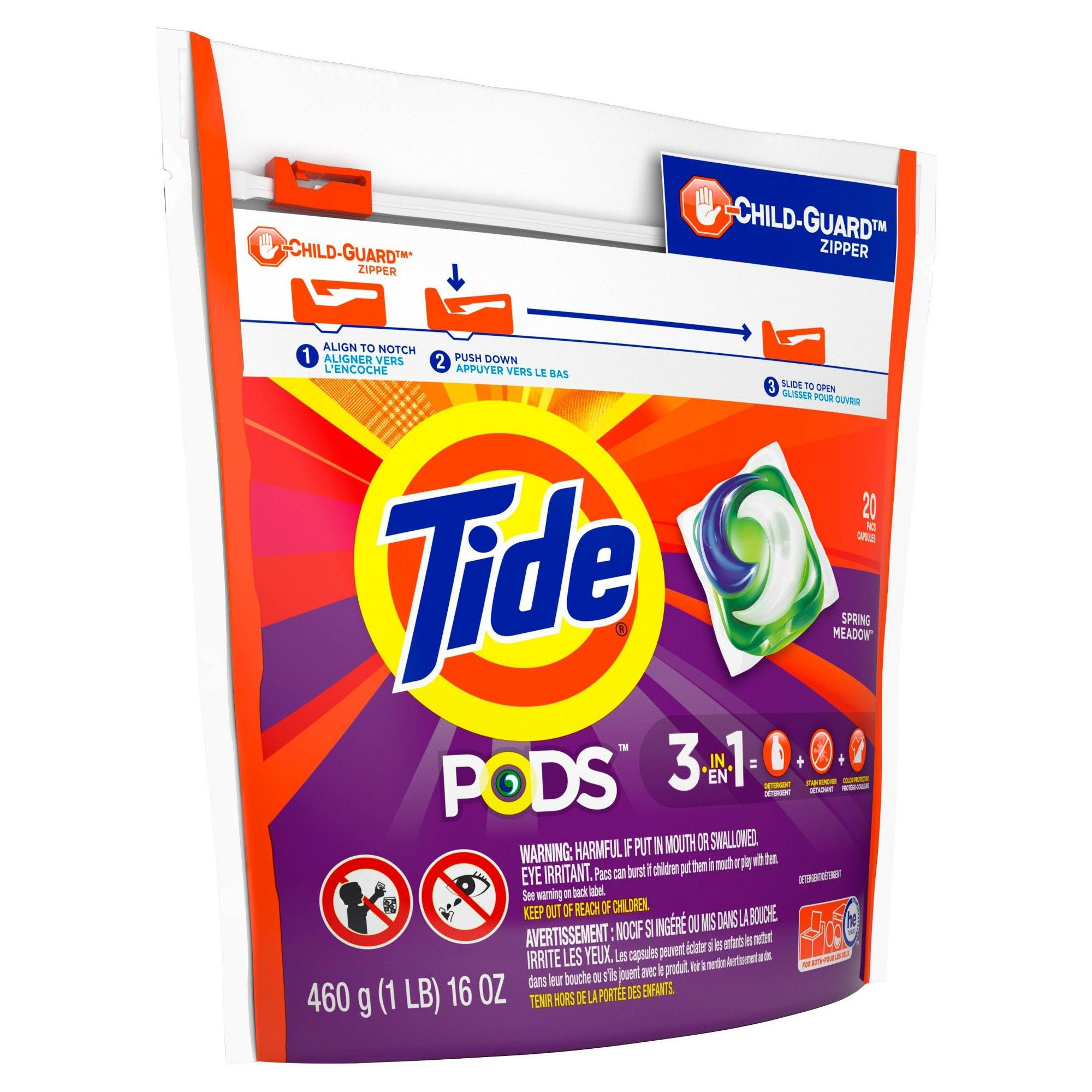 Tide Pods Laundry Detergent Pacs Spring Meadow 20ct In 2019