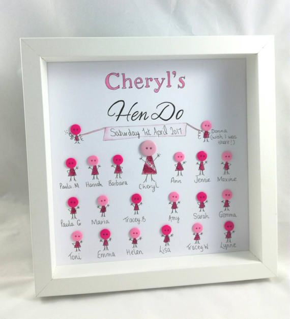 Hen Party Gift Do Gifts On Frame Personalised