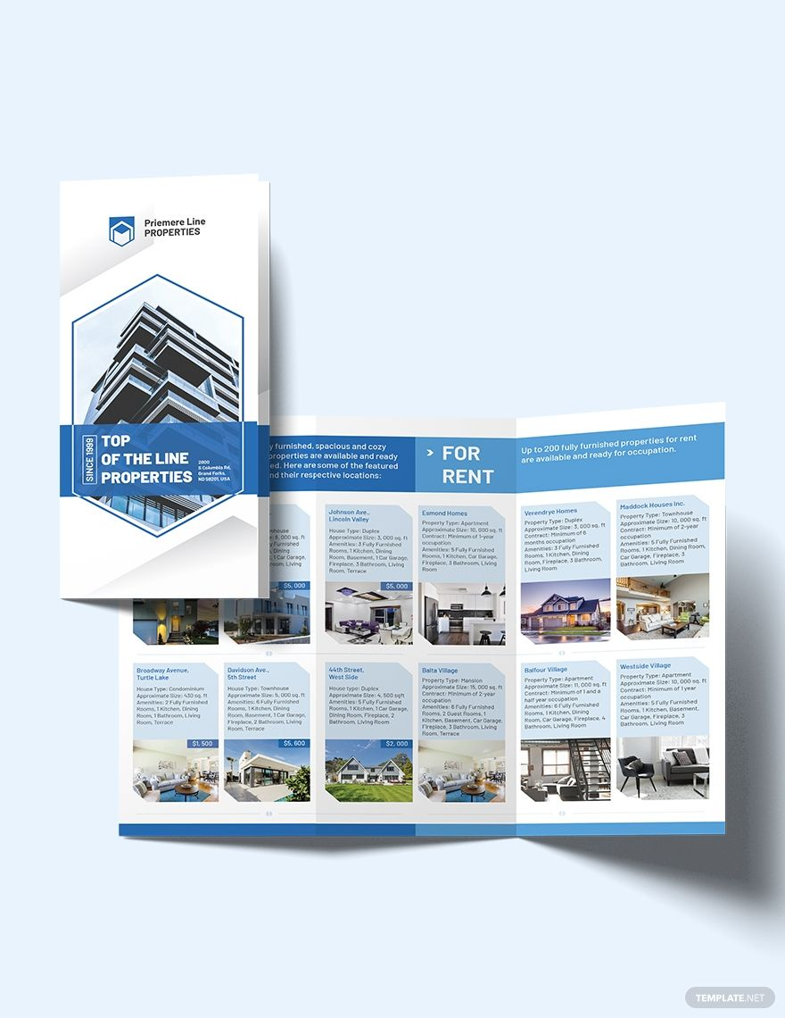 Property Tri Fold Brochure Template Word Doc Psd Indesign Apple Mac Pages Illustrator Publisher Brochure Template Trifold Brochure Trifold Brochure Template