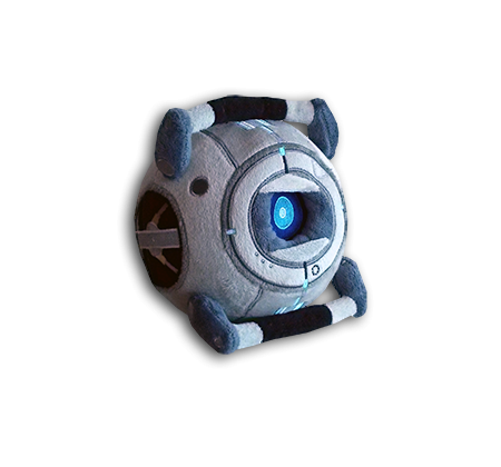Portal 2 Wheatley Plushie Thinking With Portals