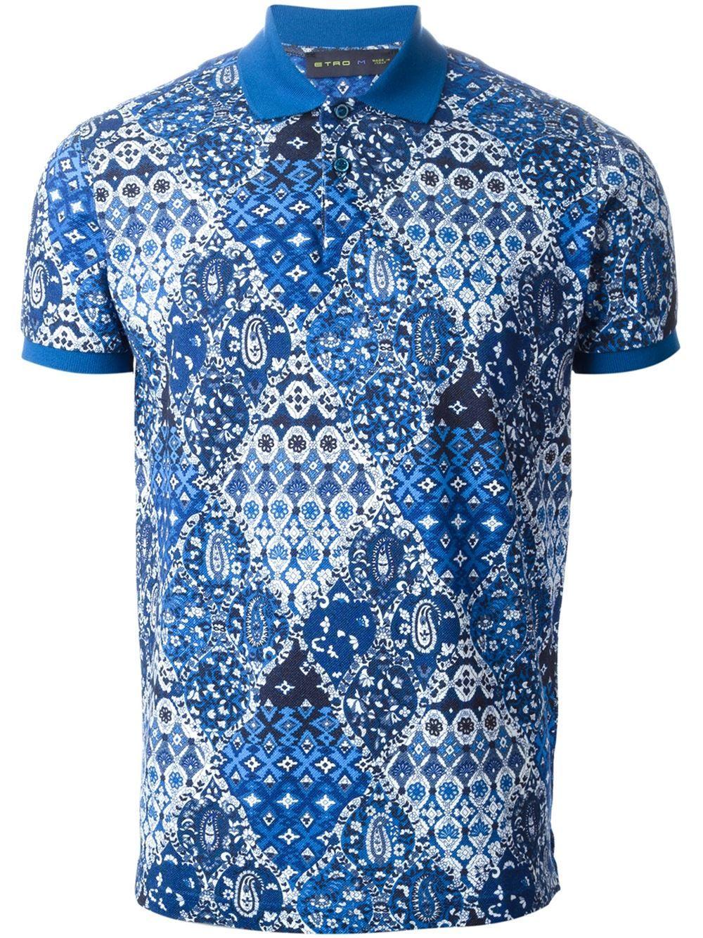 8920030c Etro Paisley Print Polo Shirt - Gore - Farfetch.com | naval ...