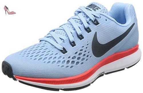 pretty nice 094f6 d4f77 Nike Wmns Air Zoom Pegasus 34, Chaussures de Running Femme, Turquoise (Ice  Blue