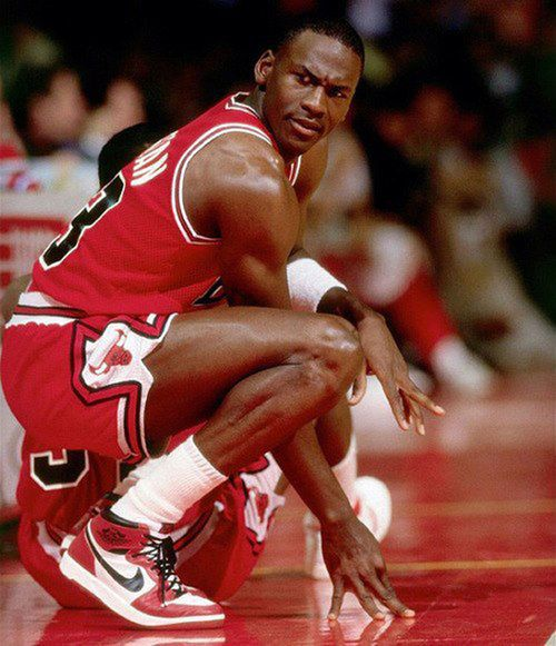 "Air Jordan I --Colorway: ""Chicago"" -- Jordan's rookie campaign in 1984-85 finished with His Airness averaging 28.2 points per game to earn All-Star and Rookie of the Year honors.  #AirJordan #MichaelJordan #sneakers #sneakerhead #basketballshoes #AirJordanI"