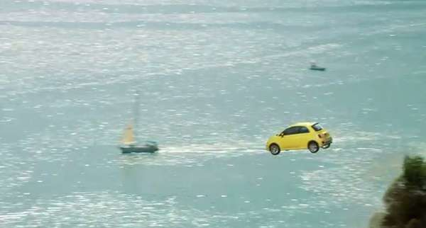 Cliff-Diving Cars - Fiat 'Immigrants' Ad Shows How Eager the Car is to Reach America #commercials #advertising