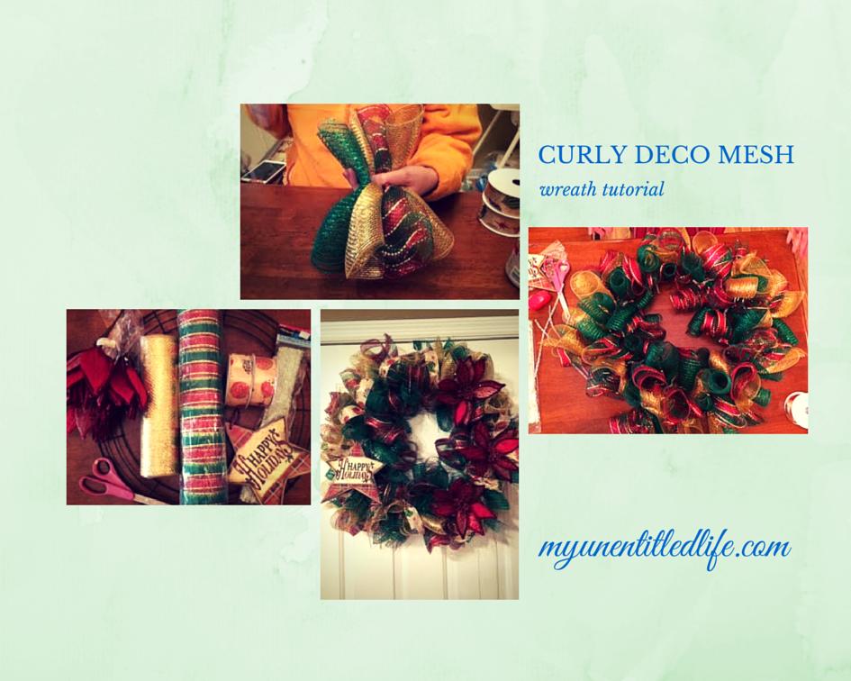 curly deco mesh wreath tutorial