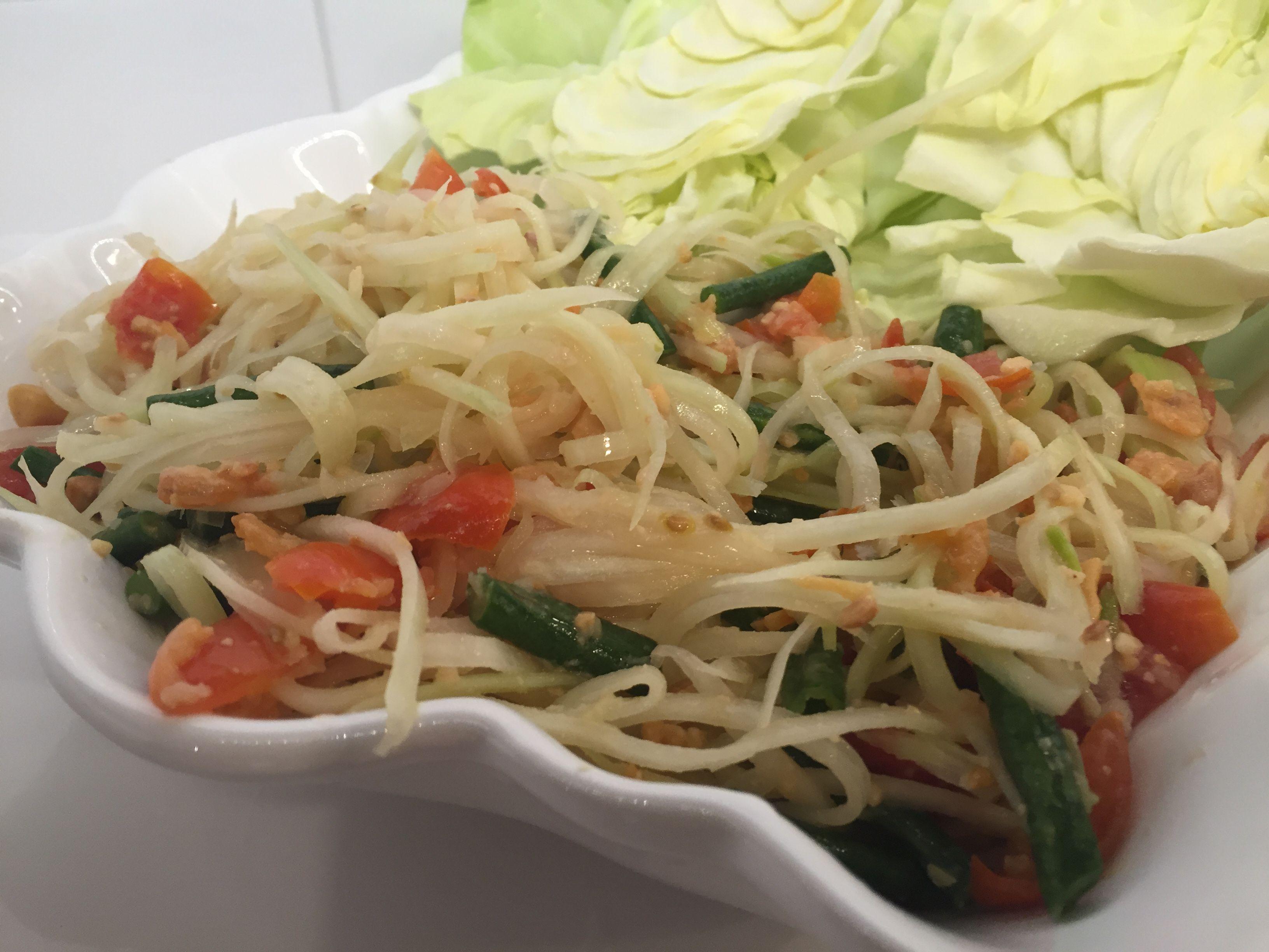 Green Papaya Salad - Visit my blog for the recipe