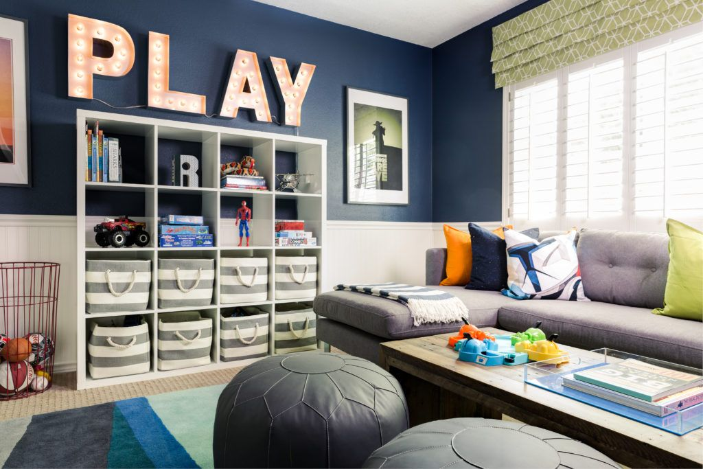 Just When You Think This Playroom Can T Get Any Cuter You Spot The Art Nook Project Nursery Family Room Design Playroom Design Family Room