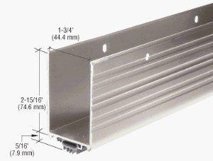 Crl Aluminum Finish Wrap Around Door Shoe And Kick Plate With Vinyl Weatherseal For 36 Door By Crl 35 03 Extra Door Kick Plates Weather Seal Home Hardware