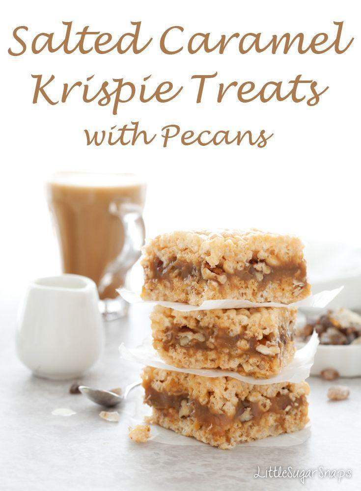 Salted Caramel Krispie Treats #krispietreats #saltedcaramel ...