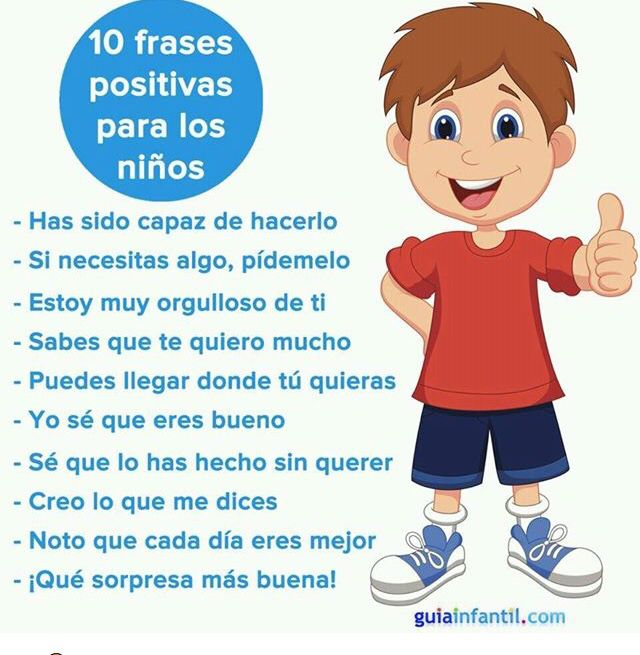10 Poderosas Frases Positivas Para Los Niños Frases